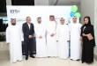 السيد مالك آل مالك إلى جانب السيد طارق شوهان  خلال مراسم التدشين المكتب الجديد